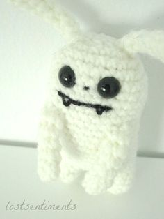 PATTERN for Vampire Bunny  Amigurumi Plush Toy  by lostsentiments