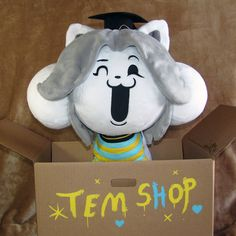 Shopkeeper Temmie by HollyIvyDesigns on DeviantArt Not yet for sale. But will be in the future. Luv Tem!