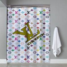 Colour art Louis Vuitton Shower Curtain