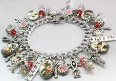 In my charm jewelry shop you will find a large selection of Christian jewelry, silver charm bracelets, Angels charm bracelets, charm necklaces, drop earrings and Unitarian Church jewelry, as well as i