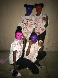 Purge Halloween costume  @yaknow.niya #halloween #purge #costume #masks