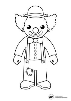 Clown Balloons Printable Coloring Sheets Community Helpers Circus Theme Doodle Art Worksheets Preschool Face Paintings Diapers