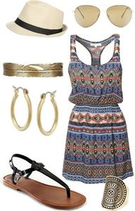 Tribal dress and flats