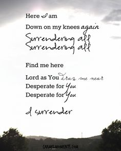 I Surrender Worship Music Lyrics Hillsong