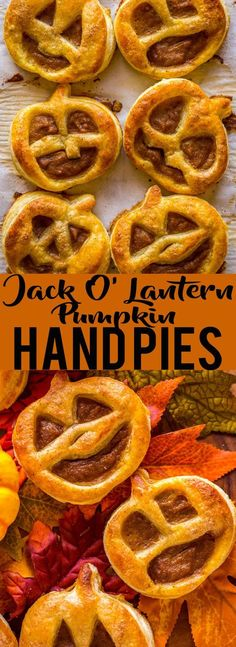 These Jack O' Lantern Pumpkin Hand Pies are cute and easy! A fun, kid-friendly Halloween dessert. | Cute Halloween foods | Jack O' Lantern | Pumpkin desserts | easy Halloween recipes @FredMeyerStores #fredmeyer #ad