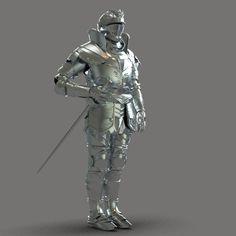 3D Model Knight Armor c4d, obj, 3ds, fbx, ma, lwo 90930