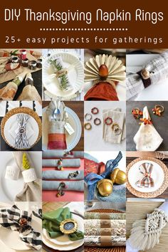 Looking for a festive way to dress up your dinner table this Thanksgiving? Check out these 25 napkin rings that you can make in an afternoon!