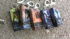 The Mortal Instruments Series  - Miniature Book Charms - Bracelet, necklace, or dollhouse piece on Etsy, $21.00