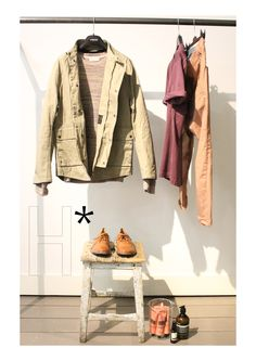 NEW COLLECTION MEN SS13:  JACKET #HOPE, SHIRT #HOPE, SHOES #MOMA, SWEATER #FOLK, TROUSER #GRIFONI