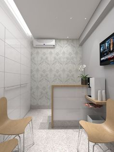 New medical treatment room small spaces 47 ideas Dental Office Decor, Medical Office Design, Home Office Design, Clinic Interior Design, Clinic Design, Small Reception Desk, Spa Reception, Dentist Clinic, Small Spaces