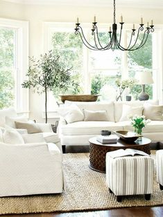 Incredible French Country Living Room Ideas modern farmhouse family room decor, neutral living room design, modern meets traditional living room decor with white wall with high ceiling and coffee Farm House Living Room, Country Living Room Design, Elegant Living Room, Living Room Interior, Interior Room Decoration, Coastal Decorating Living Room, Elegant Living, French Living Rooms, Living Decor