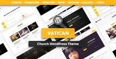 Buy Vatican - Church WordPress Theme by modeltheme on ThemeForest. Vatican is the latest WordPress Theme for Churches, Mosques or simply for Donations or Fundraising websites. Web Themes, Website Themes, Website Ideas, Fundraising Sites, Monster Activities, Watercolor City, Personal Progress, Relief Society, Vatican