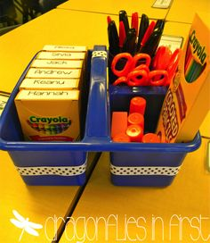 Classroom Organization Tips Sealed with a KISS | Dragonflies in First