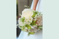 The bouquet I should have had. White with touches of green. Liz Banfield Photography