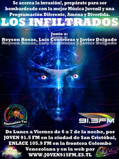#Radio #OnLine #Musica #Rock #Pop #passion #juventus #program #Electronica #Dance #LosInfiltrados #Neon #New #2015 #LunaVier #ReysonRosas #JavierDelgado #LuisContreras #Best #More #Power #Designe #Live #Pasion #Joven91.5fm #Enlace105.9fm #Tachira #SanCristobal #Frontera #Venezuela #Colombia #Cucuta #Pamplona #Chinacota #NorteDeSantander #sc #vzla #word #colors #eyes #international #thebest