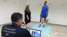 A Maccabi Tel Aviv player is evaluated using the PhysiMax system (Courtsy)
