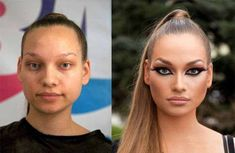 58 With and Without Makeup Pictures of Girls That Will Shock You - 18
