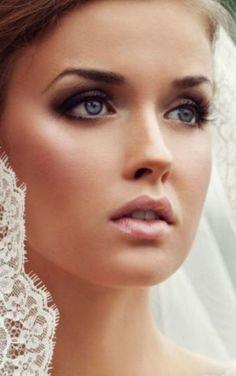 Glowy skin + smoky eye bridal makeup