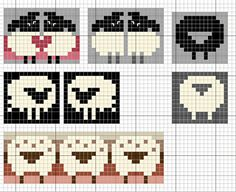 Ravelry: Love sheep pattern by Eve Laine. I& love to redraw these on knitting graph paper because I doubt they& turn out as they appear on ordinary graph paper once knit. But they are very sweet! Knitting Graph Paper, Fair Isle Knitting Patterns, Knitting Charts, Knitting Stitches, Knitting Designs, Knitting Projects, Baby Knitting, Knitting Tutorials, Vintage Knitting