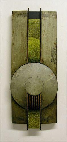 RAMÓN URBÁN, 433 Fragmento de memoria X, técnica mixta sobre tabla, 50x20 cm. (From my private collection). 2003.