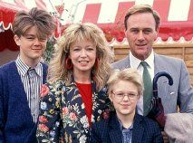Angharad Rees with her family