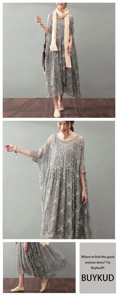 Gray lace dress will never let you down! #BUYKUD#