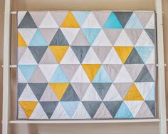 Modern Color - Triangle Patchwork Quilt  (JAQS Studio)