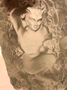 Lalique France Crystal Bacchus Deco Art Glass Vase NR DHG #Lalique #ArtDeco