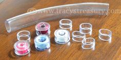 Super Simple bobbin covers from Tracy's Treasury
