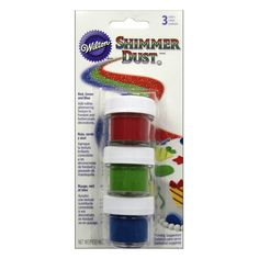You can now buy Shimmer Dust - Red, Green and Blue online in very suitable price. Bakeware.pk is a bakeware marketplace where you can order online for best baking tools, decorations and cakes.