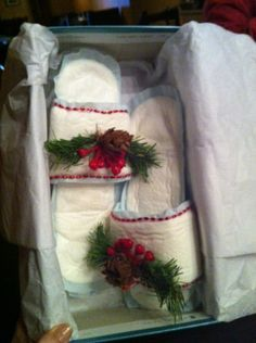 White elephant gift exchange?? I think yes : slippers made from pads. definitely making this for someone