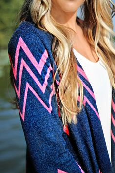 Lovely hair & cardigan combinations.