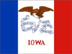 Iowa State Flag Canvas Print with Custom Black Picture Frame Home Decor Wall Art Decoration Gifts Us States Flags, States And Capitals, U.s. States, United States, Amana Colonies, State Mottos, France Flag, State Birds, The White Stripes