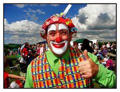 Happy Clown, Nice Day by David Reece, via Flickr