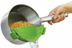I totally NEED this!!  I don't know how many times I've had noodles go down the drain because I'm to lazy to get the strainer.  (affiliatelink)