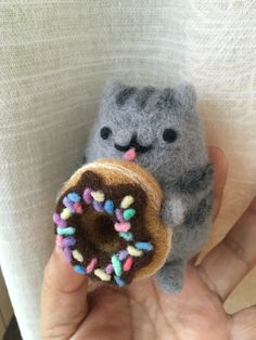 Pusheen cat with a donut.  My creation.