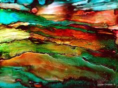 MYSTICAL LIGHT...ALCOHOL INK ON YUPO PAINTING Playing with colors..