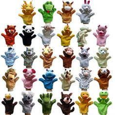 $5.4 - Nice 2016 Hot Products Jungle Book props 0-24 months Baby toys Animal hand puppet Lions,tigers,ducks,monkeys,giraffes,rabbits,Koala - Buy it Now!