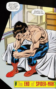 Peter in anguish in Spider-Man Chapter One