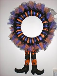 witch tulle wreath