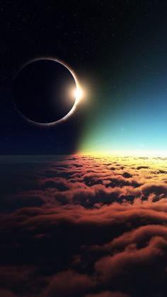 Eclipse Above The Clouds - The iPhone Wallpapers