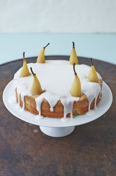 Wheat free Almond and Pear Crown Torte from John Whaite Bakes. Gluten Free Cake - so easy and so effective