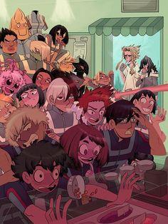 Drawing Deku Only (Part My Hero Academia My Hero Academia Episodes, My Hero Academia Memes, Hero Academia Characters, My Hero Academia Manga, M Anime, Fanarts Anime, Anime Art, Dark Fantasy, Tous Les Anime