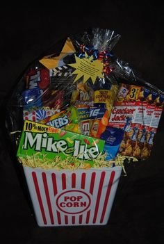 Simple date night idea - gift basket with all of their favorite treats!