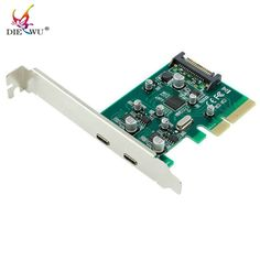 DIEWU USB-C USB 3.1 Type-C PCI Express Card Pcie Pci-e 4x To Usb3.1 Type C Adapter SuperSpeed 10Gbps Riser Card Adaptator