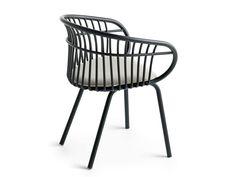Chaise en aluminium avec accoudoirs STEM 4L Collection Stem by Crassevig | design Patrick Norguet