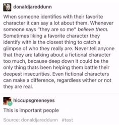 Okay, I GET this, really, but.... What about the murderous favorite characters? THINK ABOUT HOW POEPLE CAN IDENTIFY THEMSELVES IN MURDERERS XD