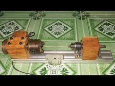 DIY Mini Lathe Tailstock Wood Metal Drill Homemade CNC Spindle Machine Free Energy Generator - YouTube