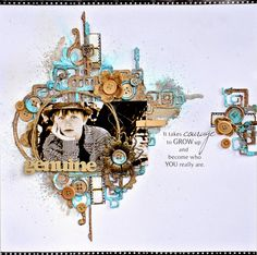 Joanne Bain's Gallery with Layouts, Projects and Photos. Scrapbook Patterns, Scrapbook Designs, Scrapbook Embellishments, Scrapbook Sketches, Mixed Media Scrapbooking, Digital Scrapbooking Layouts, Scrapbook Page Layouts, Baby Scrapbook, Scrapbook Albums