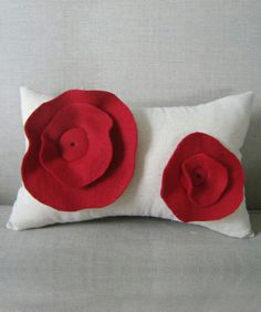 Buy Red Poppies Cushion Covers online at best price in India @ fashionandyou.com